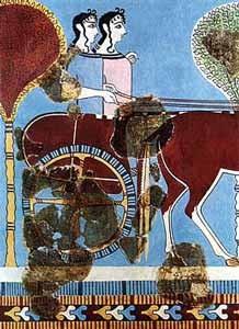 Tiryns_chariot_fresco