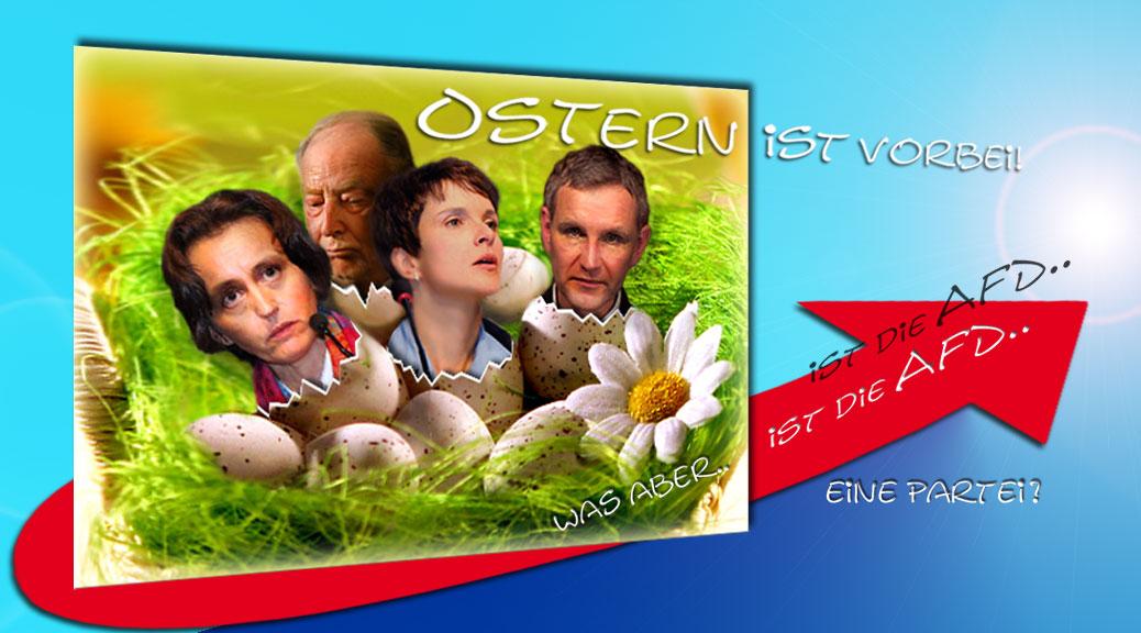 Persönlichkeiten der AfD im Osternest