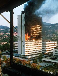 evstafiev-sarajevo-building-burns