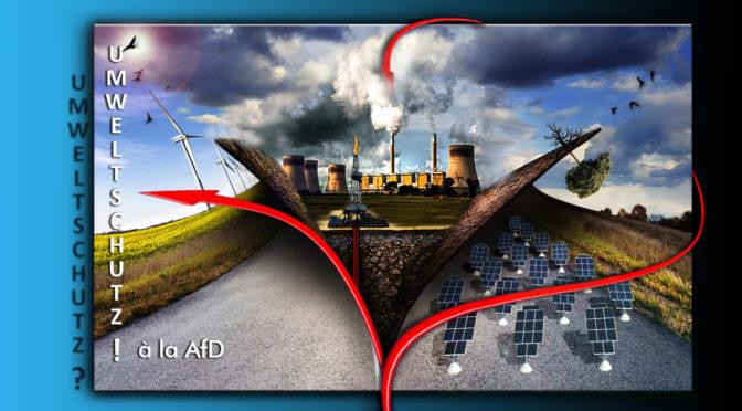AfD-Programm Knackpunkt 11: Umwelt- ohne Klimaschutz??